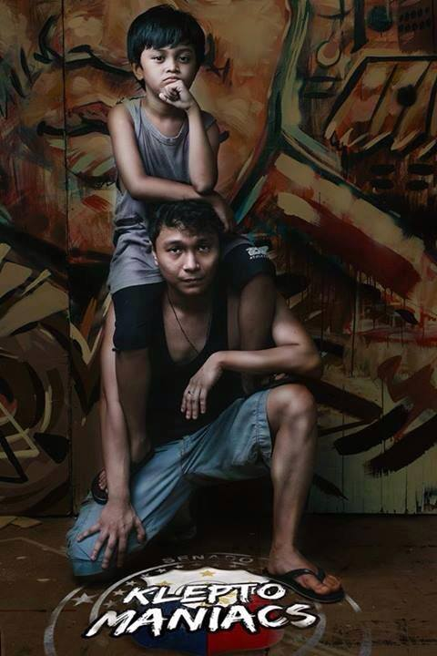 Nicco Manalo and Micko Laurente pose as the brothers Tabo and Buchoy in Tanghalang Pilipino's Kleptomaniacs. Photo from Tanghalang Pilipino's official Facebook page.