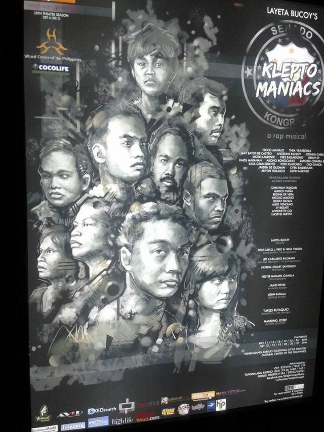 Official Kleptomaniacs poster. Photo c/o blogger.
